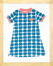 Alba Vida Dress Snorkel blue Animal