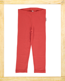 Maxomorra legging Rusty Red cropped
