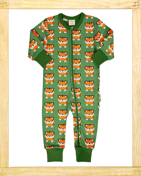 Maxomorra zippersuit Tangerine Tiger