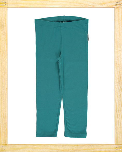 Maxomorra legging  Soft Petrol cropped