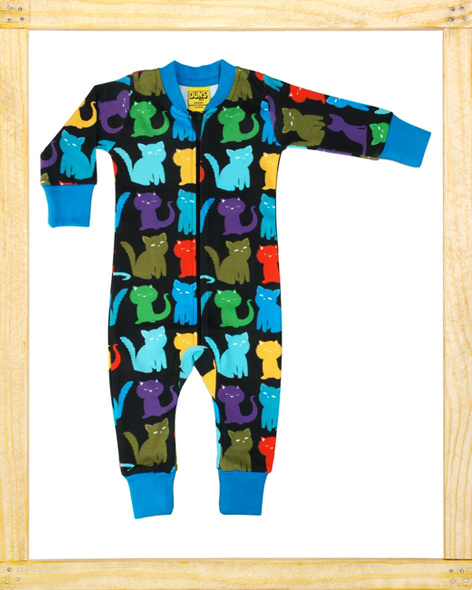 Duns zippersuit Cats black