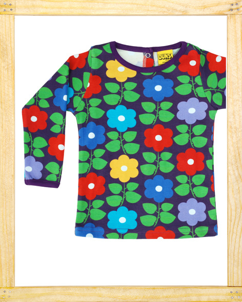 Duns longsleeve Flower purple