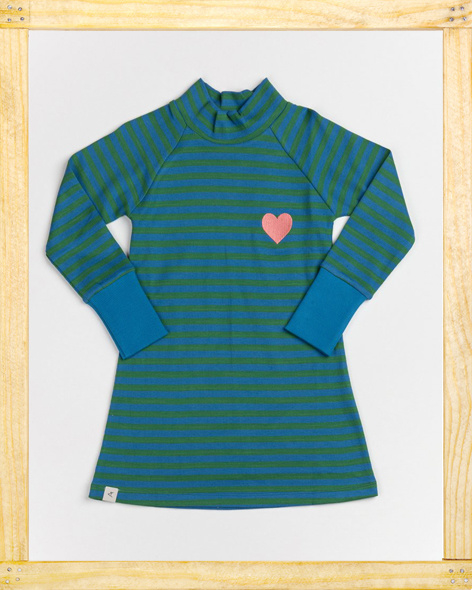 Alba Clara school dress green stripes
