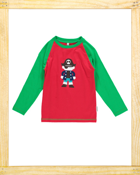 Maxomorra longsleeve Pirate red