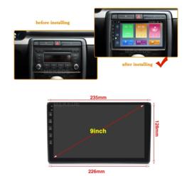 """9"""" radio navigatie passend voor Audi A4 B6 B7RS4 S4 2002-2008"""