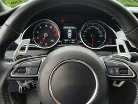 op maat gemaakte lichtmetalen flippers passend op Audi  DSG Paddle Extension Shifters Shift Sticker Decoratie Voor Audi A3 S3 A4 S4 A5 A6 S6 RS6 A8 R8 Q5 SQ5 Q7