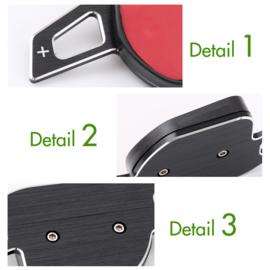 op maat gemaakte zwart lichtmetalen  flippers Audi DSG Paddle Extension Shifters Shift Sticker Decoratie passend op Audi A3 S3 A4 S4 A5 A6 S6 RS6 A8 R8 Q5 SQ5 Q7