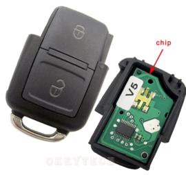 autosleutel geschikt voor Volkswagen compleet met chip