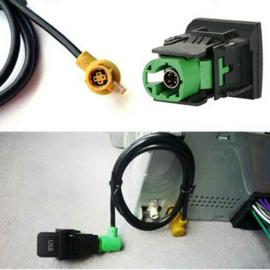 USB Audio Switch Cable Harness RCD510 RCD300 + Voor Volkswagen VW Voor Golf MK6 Jetta MK5 Polo