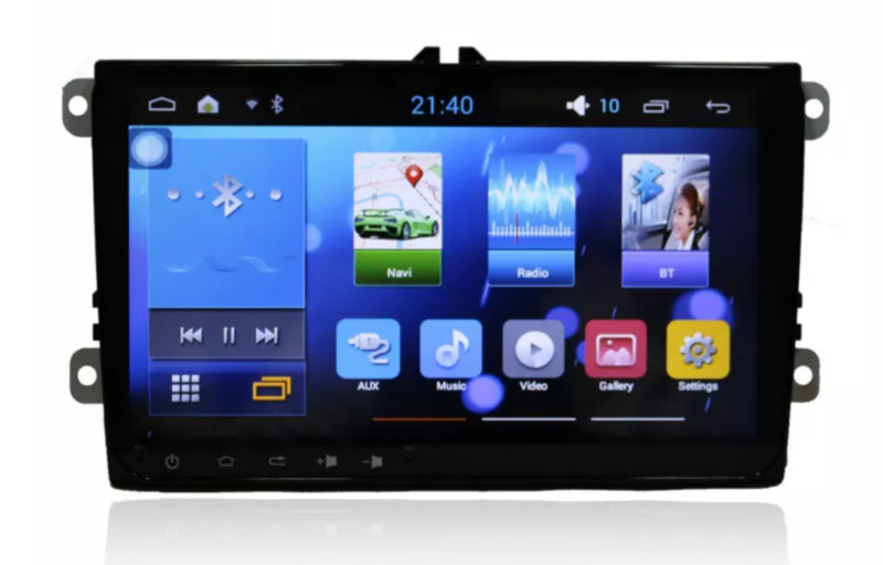 "9 "" full touchscreen android radio navigatie CANBUS stuurwielbediening passend voor Vw Skoda Seat"