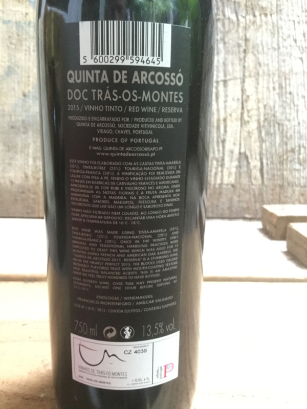 Quinta do Arcossó tinto reserva 2015/16