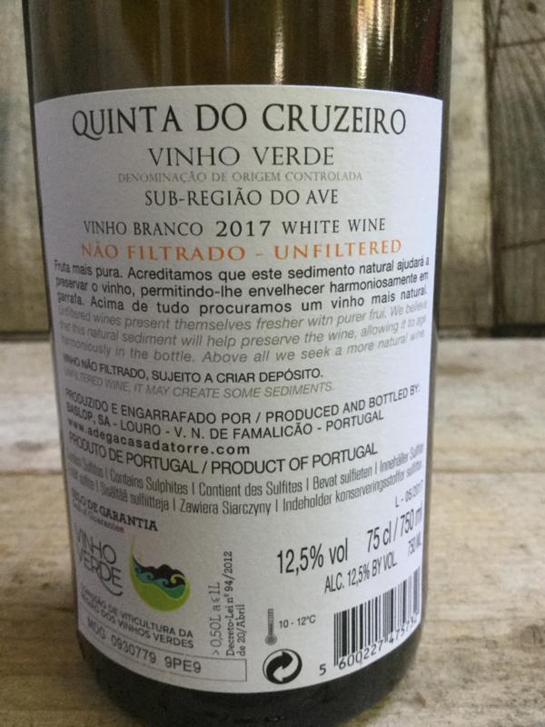 Quinta do Cruzeiro '17  Vinho Verde ongefilterd