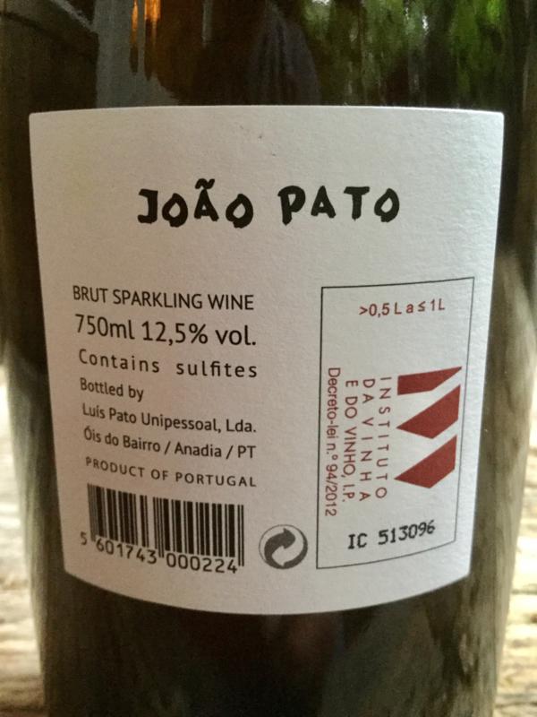 João Pato brut branco Natuurwijn