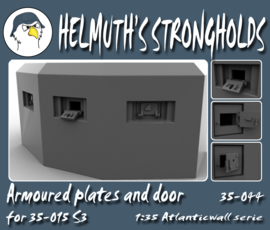 35-044 Armoured plates and door for 35-015 S3