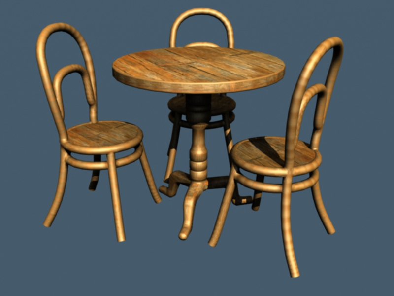 35-029 Bistro table with chairs