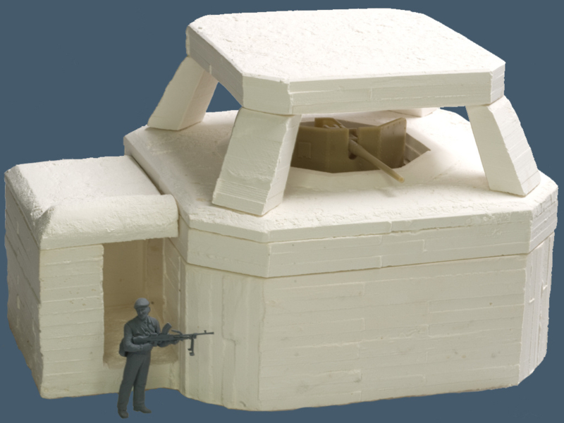 35-017 Roofed ringstand Fortress fur 5cm KwK