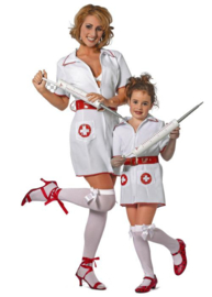 Verpleegstersjurkje met rode riem