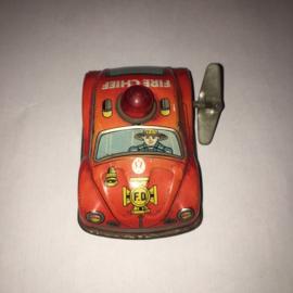 Kleine opwind blikken speelgoed Brandweerauto