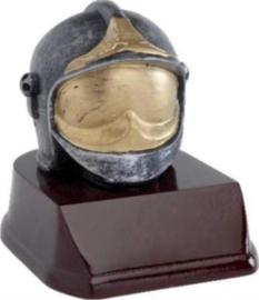 Brandweerbeeld helm  gouden vizier