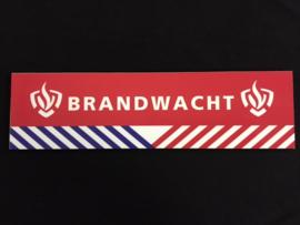 Bordje Brandwacht witte letters fijne biza strepen