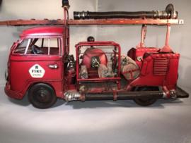 Blikken Brandweer bus (VW bus groot)