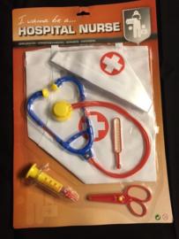 Verpleegsters set in plastic zak