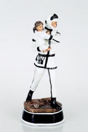 Brandweerman met kind wit ca. 25 cm