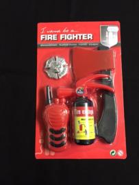 Brandweer set op kaart klein
