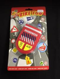 Brandweer sirene voor op de fiets