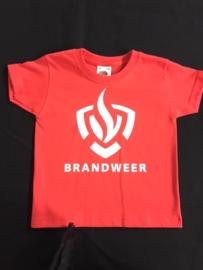 T-shirt met Brandweerlogo