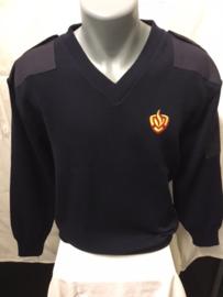 Commando trui Navy Rood /Geel logo