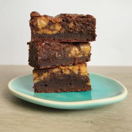 Karamel brownie