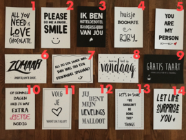10 kaarten - zelf samenstellen