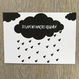 jij laat het hartjes regenen