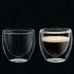 Cilio set-2 80 ml dubbelwandige glazen Espresso