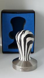 Tamper Competitie Vlakke base, Zebra , 58,5 mm