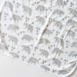 Zachte tricot omslagdoek zomer ijsbeer