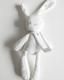 Knuffelig konijntje met naam 48cm