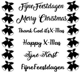 Herbruikbare raamsticker: Kerst, Nieuwjaar of Feestdagen