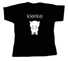 Shirt wit of zwart met opdruk: Dialect of naar eigen wens