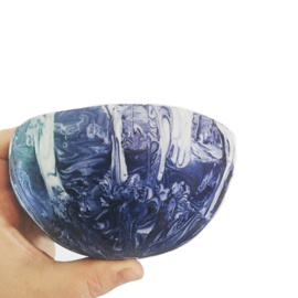 Cobal Marbling Soup Bowl