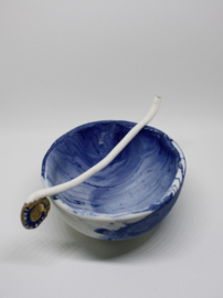 Blue Marble Tea Cup & Pipe Spoon