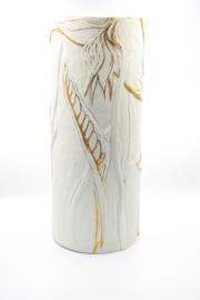 Strelitzia Porcelain Vase with 14k gold
