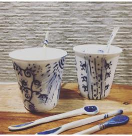 Bone China Cup 200ml & Spoon