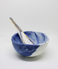Sugar Bowl & Spoon 14c gold