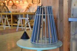 Houten hanglamp Vase 40 semi-grey
