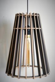 Houten lamp 'Vase' | naturel, grijs, zwart