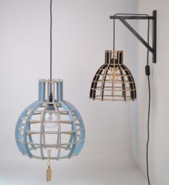 Houten wandsteun incl. snoer (ex. houten lamp!) | zwart