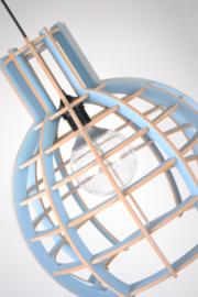 Hanglamp 'Globe' blauw