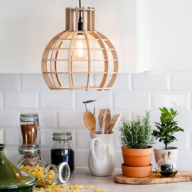 Hanglamp 'Globe' naturel